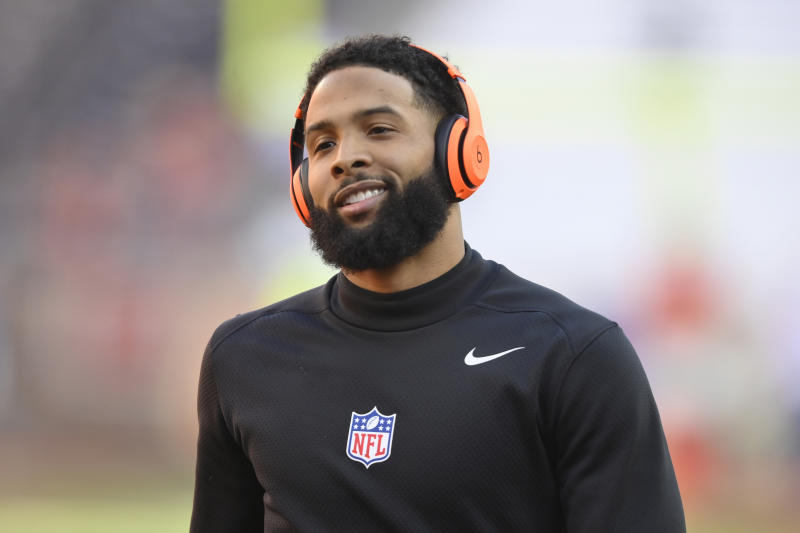The Cleveland Browns announced that receiver Odell Beckham Jr. underwent core muscle surgery on Tuesday. (AP/David Richard)