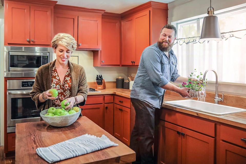 """After a tornado destroyed this renovated home, Erin and Ben Napier restored the house for the homeowners, as seen on """"Home Town."""""""