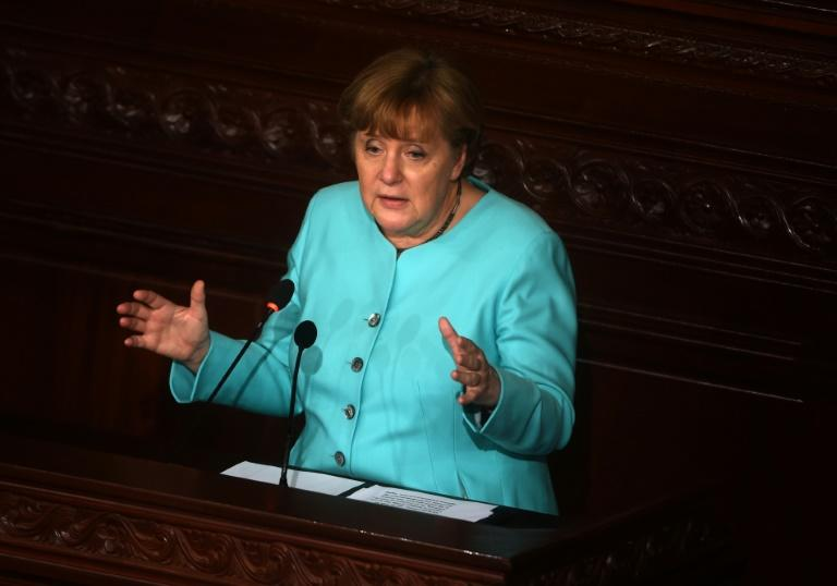 Germany's Prime Minister Angela Merkel is currently on an official visit to Tunisia