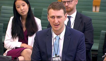 FILE PHOTO -  Aleksandr Kogan, a researcher at Cambridge University who created a personality quiz to collect users data on Facebook, gives evidence to Parliament's Digital, Culture, Media and Sport committe in Westminster, London