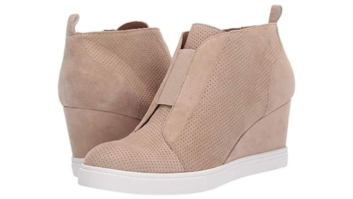 Wedged sneakers help any outfit look sporty and fashionable.
