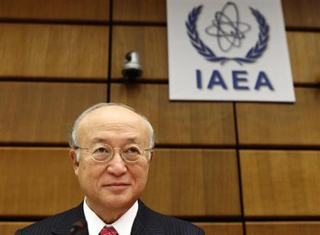 International Atomic Energy Agency IAEA Director General Amano waits for a board of governors meeting to begin at the IAEA headquarters in Vienna
