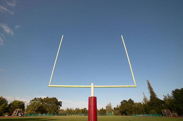 A California high school cancelled football entirely after two huge losses. (Getty)