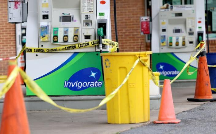A lack of gasoline at a gas station in Washington