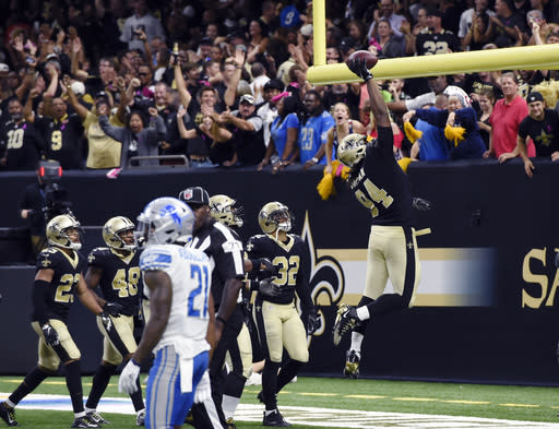 Cameron Jordan has become a legitimate Defensive Player of the Year candidate. (AP Photo/Bill Feig, File)
