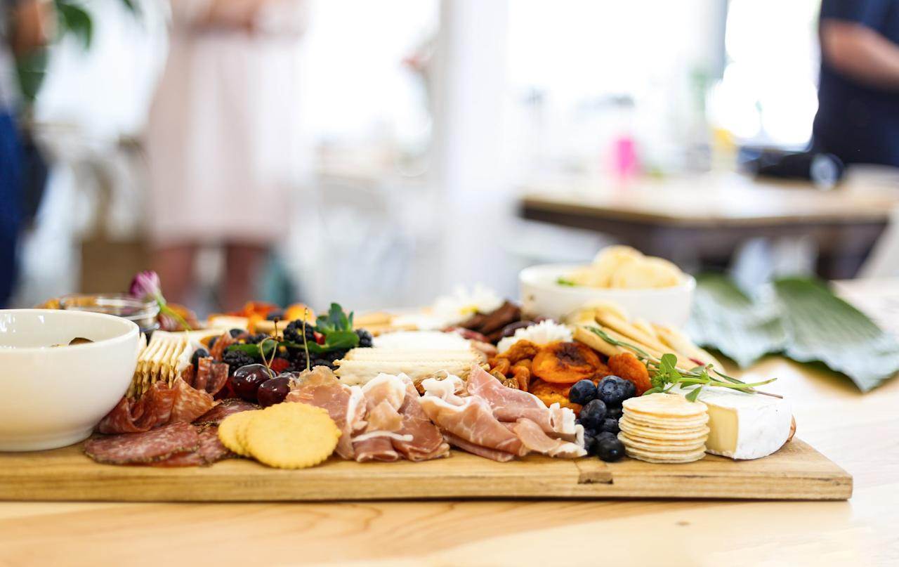 <p>The next step is to think about what serving platter you're going to use. How much space do you have to fill? It's okay to use more than one and different shapes are encouraged.</p>