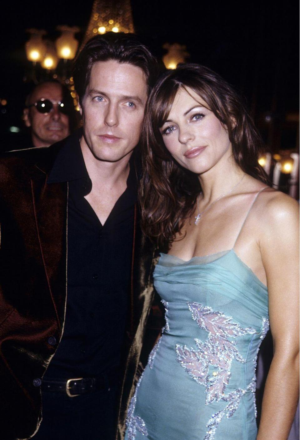 "<p>In 1995, Hugh Grant was <a href=""https://www.theguardian.com/film/from-the-archive-blog/2015/jun/26/hugh-grant-arrest-prostitute-divine-brown-20-1995"" rel=""nofollow noopener"" target=""_blank"" data-ylk=""slk:caught with a sex worker"" class=""link rapid-noclick-resp"">caught with a sex worker</a> named Divine Brown and arrested for ""lewd conduct"" in a public place. At the time, he was with his longtime partner, Elizabeth Hurley, who tried to work through the incident. She ended up leaving Grant five years later. </p>"