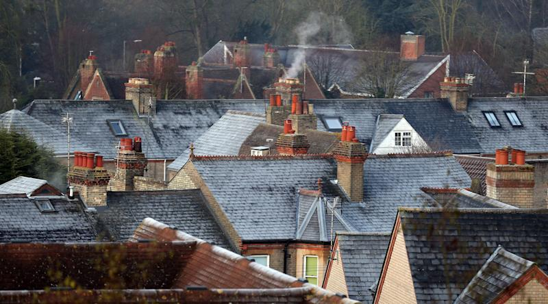 Frosted roof tops seen from Castle Hill in Cambridge, as snow could be on the way for parts of Britain.
