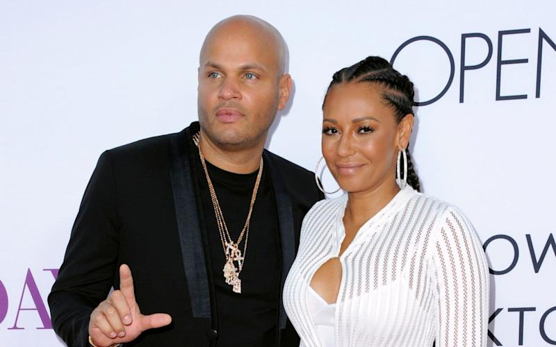 Stephen Belafonte and his wife Mel B arrive at the Los Angeles premiere of