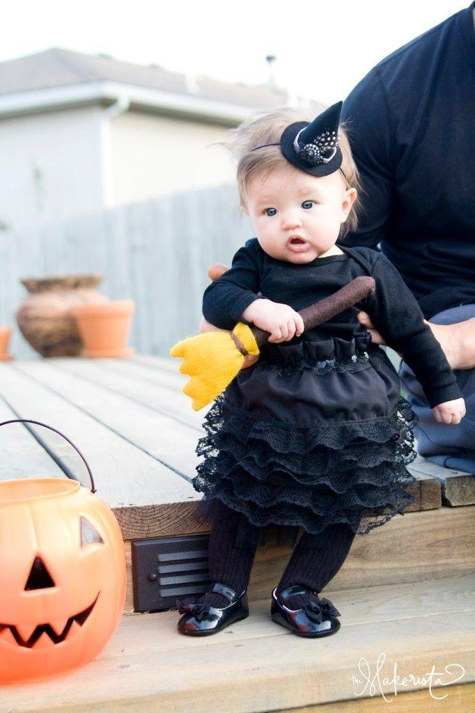 """<p>A ruffled skirt, teeny hat, and plush broomstick make for one adorable baby witch. </p><p><strong>Get the tutorial at <a href=""""http://www.themakerista.com/to-make-or-to-buy-halloween-costumes/"""" rel=""""nofollow noopener"""" target=""""_blank"""" data-ylk=""""slk:The Makerista"""" class=""""link rapid-noclick-resp"""">The Makerista</a>.</strong> </p><p><a class=""""link rapid-noclick-resp"""" href=""""https://go.redirectingat.com?id=74968X1596630&url=https%3A%2F%2Fwww.etsy.com%2Flisting%2F105206163%2Fnewborn-witch-hat-baby-witch-hat-baby&sref=https%3A%2F%2Fwww.countryliving.com%2Fdiy-crafts%2Fg28304812%2Fdiy-witch-costume%2F"""" rel=""""nofollow noopener"""" target=""""_blank"""" data-ylk=""""slk:SHOP BABY WITCH HATS"""">SHOP BABY WITCH HATS</a></p>"""