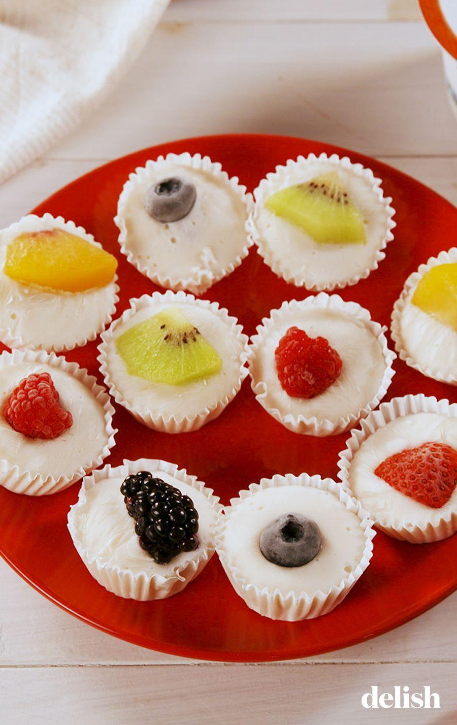 """<p>They taste as satisfying as they are easy to make!</p><p>Get the recipe from <a href=""""https://www.delish.com/cooking/recipe-ideas/a25619129/frozen-yogurt-fruit-bites-recipe/"""" rel=""""nofollow noopener"""" target=""""_blank"""" data-ylk=""""slk:Delish"""" class=""""link rapid-noclick-resp"""">Delish</a>.</p>"""