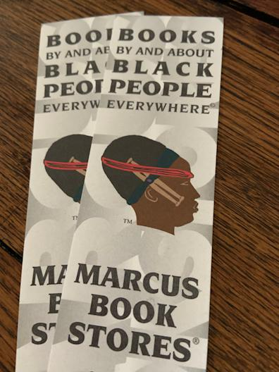 """Books By and About Black People Everywhere"" is the slogan of Marcus Books in Oakland, California"