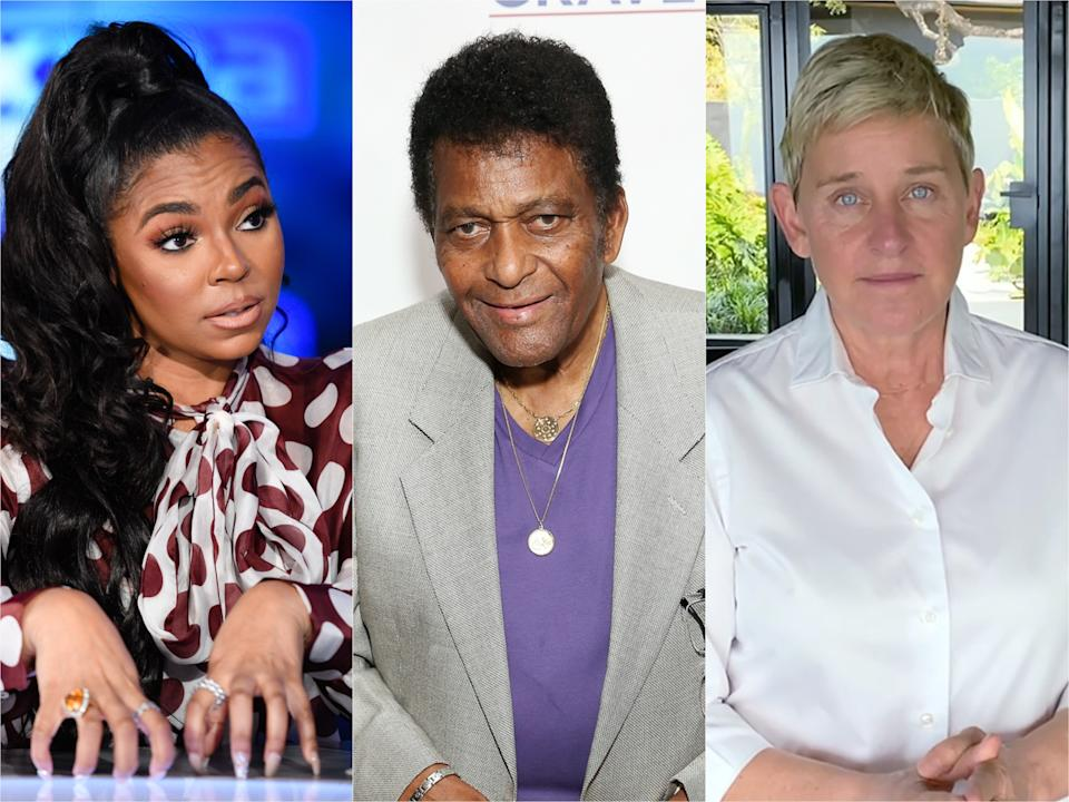 Dozens of celebs, including Ashanti, Charley Pride and Ellen Degeneres, have had the coronavirus. (Photo: Getty Images)