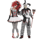 """<p>partycity.com</p><p><strong>$39.99</strong></p><p><a href=""""https://www.partycity.com/adult-harlequin-honey-and-sinister-jester-couples-costumes-G536379.html?cgid=couples-costumes"""" rel=""""nofollow noopener"""" target=""""_blank"""" data-ylk=""""slk:BUY IT HERE"""" class=""""link rapid-noclick-resp"""">BUY IT HERE</a></p><p>Without a doubt, this will put you in the running for best costume. I mean, talk about eye-catching. </p>"""