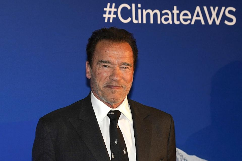 KITZBUEHEL, AUSTRIA - JANUARY 23: Arnold Schwarzenegger during the Climate Austrian World Summit on Hahnenkamm Race Weekend on January 23, 2020 in Kitzbuehel, Austria. (Photo by Martin Rauscher/SEPA.Media /Getty Images)