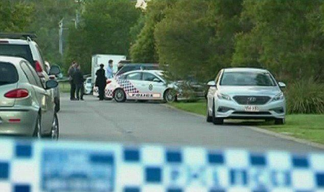 A manhunt has been launched following a Brisbane father-of-four's murder out front of his family home. Source: 7 News