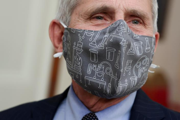 <p>File image: Dr Anthony Fauci and Donald Trump often disagreed with each other in public on handling of the pandemic</p> (Reuters)