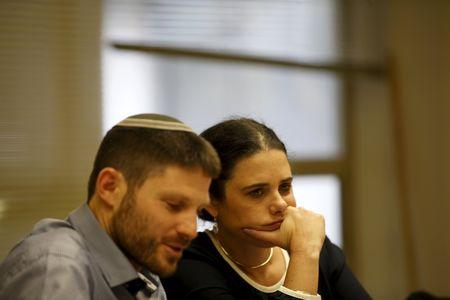 Israel Justice Minister Ayelet Shaked takes part in the party's meeting in the Israeli parliament in Jerusalem