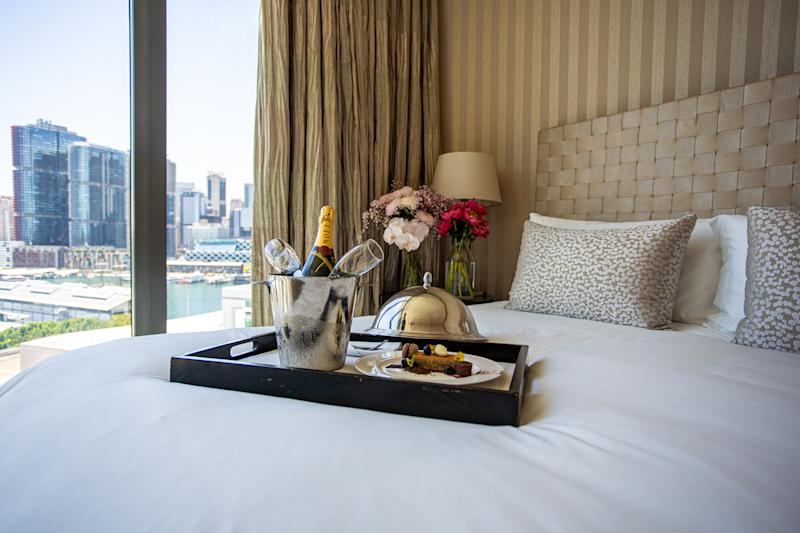 The rooms overlooks Sydney's Darling Harbour. Photo: The Star Sydney