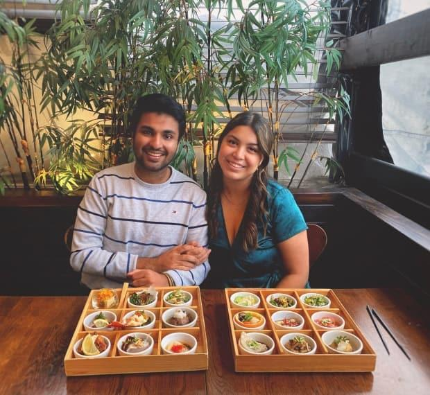 Aashim Aggarwal and Amaara Dhanji are on a mission to taste cuisine from every country in the GTA. (Aashim Aggarwal - image credit)