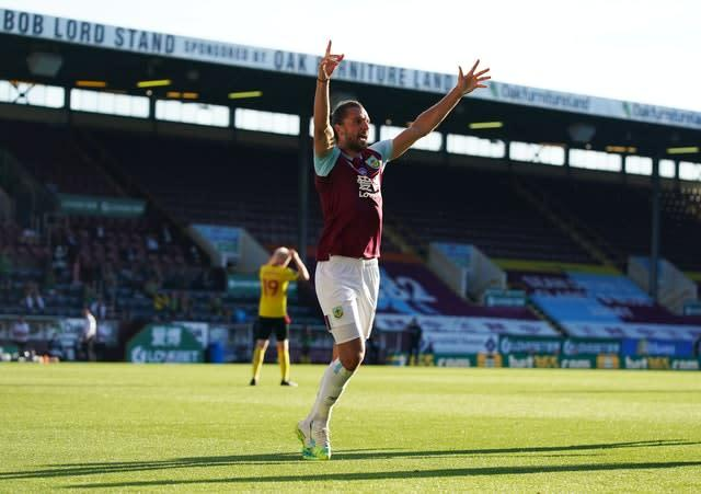 Jay Rodriguez's 50th Burnley goal earned a 1-0 win over Watford on Thursday (Jon Super/NMC Pool/PA)