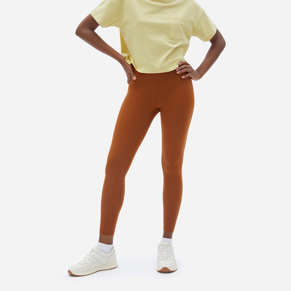 "<h3><a href=""https://www.everlane.com/products/womens-perform-legging-copper"" rel=""nofollow noopener"" target=""_blank"" data-ylk=""slk:Everlane The Perform Legging"" class=""link rapid-noclick-resp"">Everlane The Perform Legging</a></h3><br>We've <a href=""https://www.refinery29.com/en-us/best-legging-reviews"" rel=""nofollow noopener"" target=""_blank"" data-ylk=""slk:said it once before"" class=""link rapid-noclick-resp"">said it once before</a> and we'll say it again: the stretchy factor on these is unreal, to a point where they're basically like a second skin. <br><br><strong>Everlane</strong> The Perform Legging, $, available at <a href=""https://go.skimresources.com/?id=30283X879131&url=https%3A%2F%2Fwww.everlane.com%2Fproducts%2Fwomens-perform-legging-copper"" rel=""nofollow noopener"" target=""_blank"" data-ylk=""slk:Everlane"" class=""link rapid-noclick-resp"">Everlane</a>"