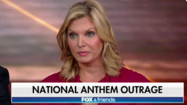 "A ""Fox & Friends"" panelist said Tuesday that she's fed up with NFL players taking a knee during the national anthem and thinks it's time for them to explain what it is they're protesting."