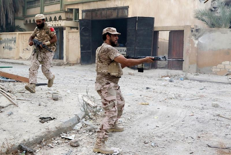 Since the offensive against Islamic State group fighters in Sirte began on May 12, more than 400 fighters loyal to the Libyan government have been killed and around 2,500 wounded (AFP Photo/Mahmud Turkia)