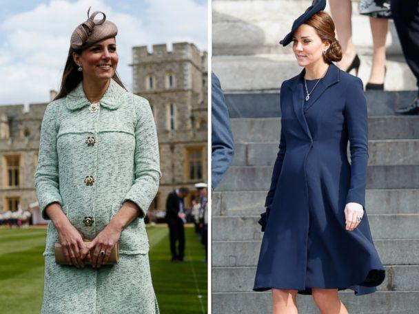 PHOTO: Catherine, Duchess of Cambridge, attends an event at Windsor Castle on April 21, 2013 and an event in London on March 13, 2015. (WPA Pool/Max Mumby/Indigo/Getty Images)