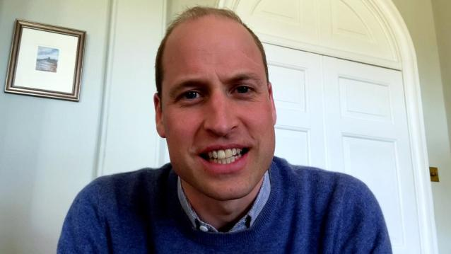 Prince William has taken to the world of video calls during lockdown. (Comic Relief/BBC Children in Need)