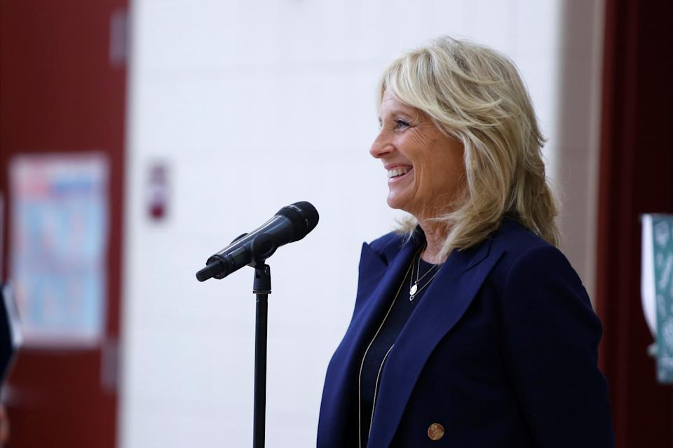 "A Dec. 11 Wall Street Journal opinion story encouraged future First Lady Jill Biden to retire her ""Dr."" title in public. (Photo: REUTERS/Nicole Neri)"