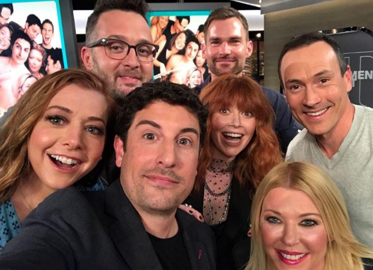 The American Pie cast reunite 20 years on (Credit: Alyson Hannigan)