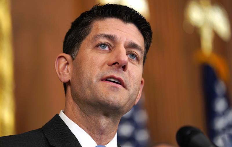 U.S. Speaker of the House Paul Ryan speaks to reporters at an enrollment ceremony for several House bills on Capitol Hill in Washington on May 24, 2018. (Toya Sarno Jordan / Reuters)