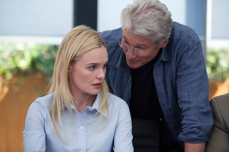 """This image released by Relativity Media shows Kate Bosworth, left, and Richard Gere in a scene from """"Movie 43."""" (AP Photo/Relativity Media, Jessica Miglio)"""