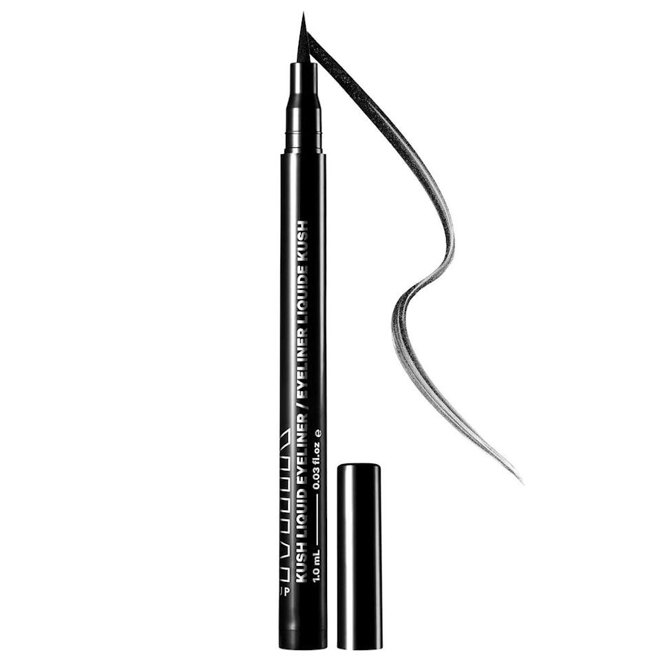 <p>Create bold wings and eccentric graphic eyeliner looks with the <span>Milk Makeup KUSH Liquid Eyeliner</span> ($15, originally $22).</p>