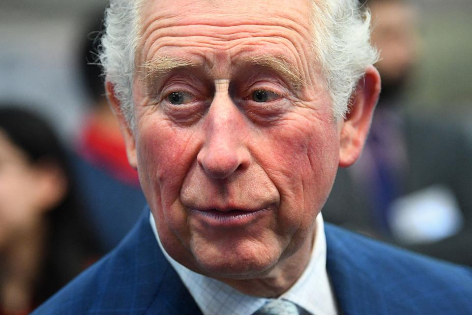 Britain's Prince Charles, Prince of Wales reacts during his visit to the London Transport Museum in London on March 4, 2020, to take part in celebrations to mark 20 years of the museum. - TfL was set-up in 2000 to bring Londons transport network together under one integrated body. (Photo by Victoria Jones / POOL / AFP) (Photo by VICTORIA JONES/POOL/AFP via Getty Images)