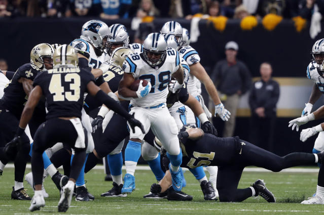 The New York Giants reportedly intend to sign free-agent running back Jonathan Stewart. (AP)