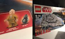 <p>First Order Star Destroyer with Snoke Minifig. (Yahoo Movies UK/Disney) </p>