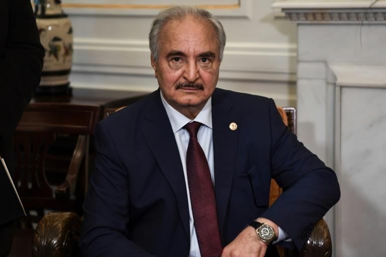 Haftar's forces launched an assault in April on Sarraj's troops in Tripoli