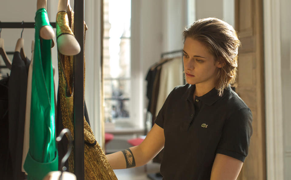 <p>Olivier Assayas's odd ghost story casts Kristen Stewart as a medium whose day job involves ferrying haute couture to a Paris-based celebrity. As she goes about her business, she's followed by what may be a paranormal being. If you're a sucker for absorbing, enigmatic storytelling, add <i>Personal Shopper</i> to your viewing cart. —<i>E.A.</i> (Photo: IFC)<br><br></p>