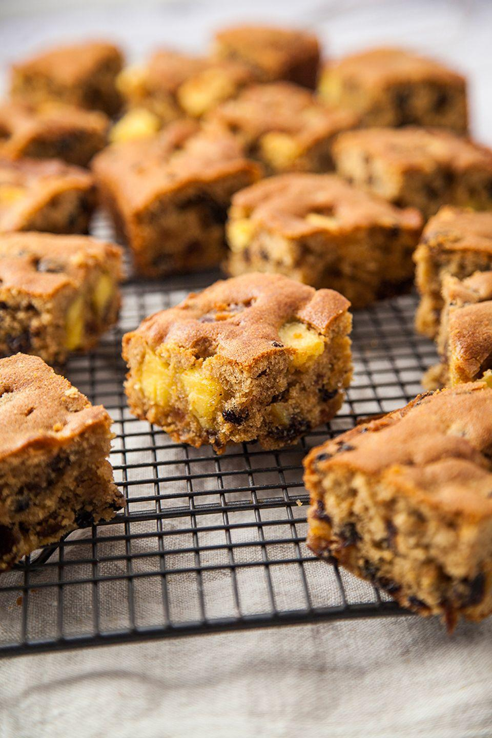 """<p>If you're not in the mood to create a full simnel cake, this easy traybake is ideal.</p><p><strong>Recipe: <a href=""""https://www.goodhousekeeping.com/uk/food/recipes/a26585500/easy-simnel-cake/"""" rel=""""nofollow noopener"""" target=""""_blank"""" data-ylk=""""slk:Simnel traybake"""" class=""""link rapid-noclick-resp"""">Simnel traybake</a></strong></p>"""