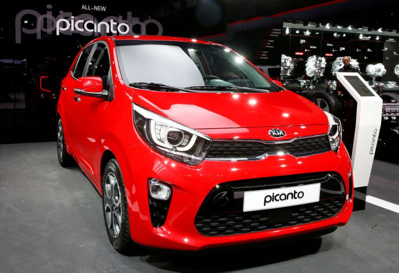 FILE PHOTO: A Kia Picanto car is seen during the 87th International Motor Show at Palexpo in Geneva