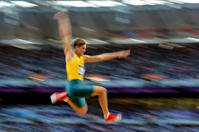 Henry Frayne of Australia competes in the Men's Long Jump Final on Day 8 of the London 2012 Olympic Games at Olympic Stadium on August 4, 2012 in London, England. (Photo by Harry How/Getty Images)