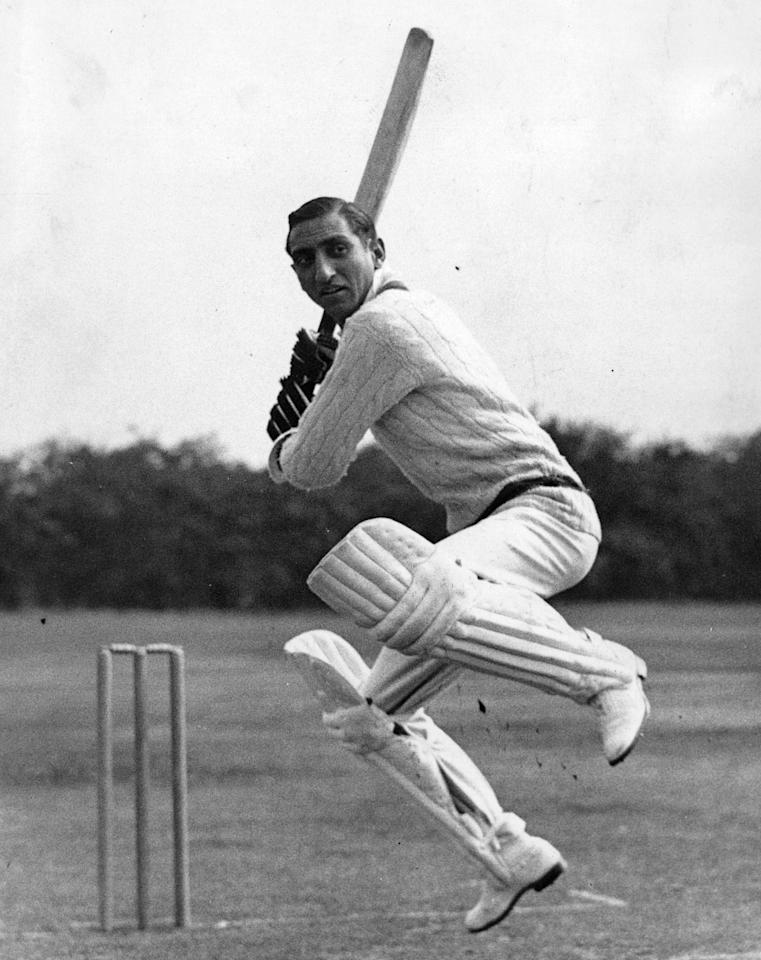 1937:  The Indian cricketer Iftikhar Ali, Nawab of Pataudi (1910-1952).  (Photo by Hulton Archive/Getty Images)