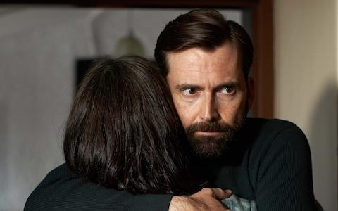 Is David Tennant looking into the darkness, or is darkness looking out of him? - Credit: Channel 4