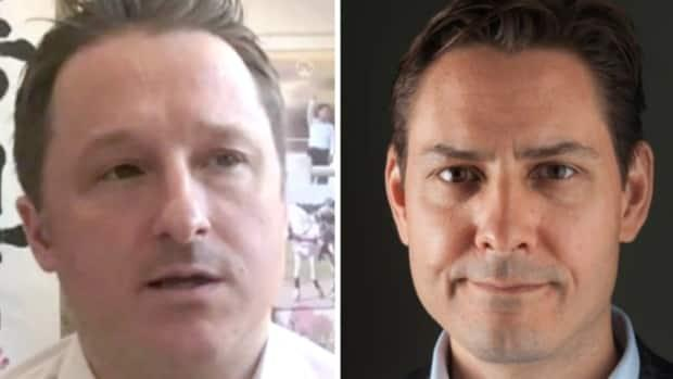 Michael Spavor, left, and former Canadian diplomat Michael Kovrig, had been detained in China since December, 2018. (The Associated Press/International Crisis Group/The Canadian Press - image credit)