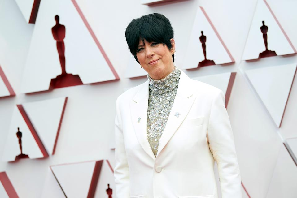 LOS ANGELES, CALIFORNIA – APRIL 25: (EDITORIAL USE ONLY) In this handout photo provided by A.M.P.A.S., Diane Warren attends the 93rd Annual Academy Awards at Union Station on April 25, 2021 in Los Angeles, California. (Photo by Matt Sayles/A.M.P.A.S. via Getty Images)