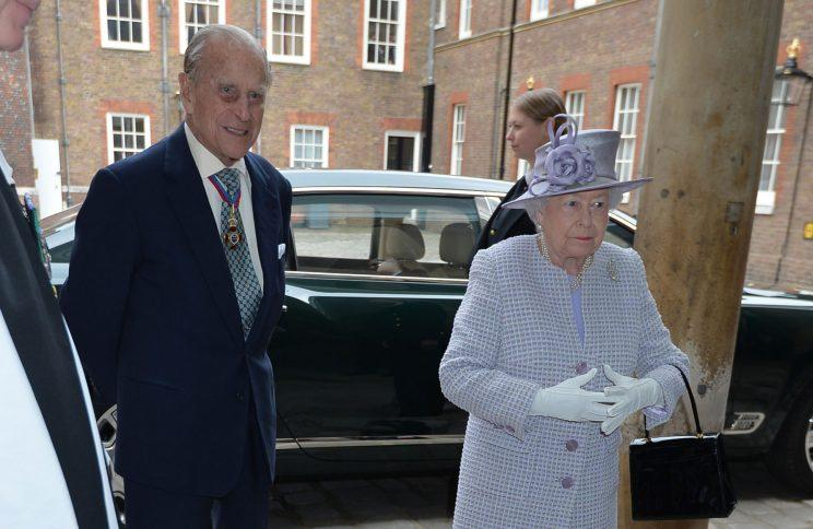 Prince Philip and the Queen pictured on Thursday after the announcement (PA)