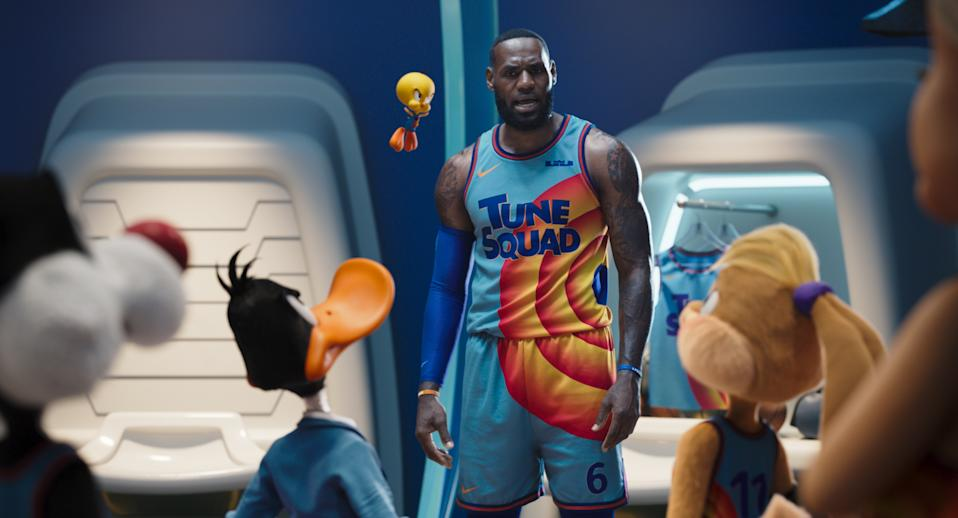LeBron James starts opposite the Looney Tunes in the new comedy, 'Space Jam: A New Legacy' (Photo: Warner Bros. Entertainment Inc.)