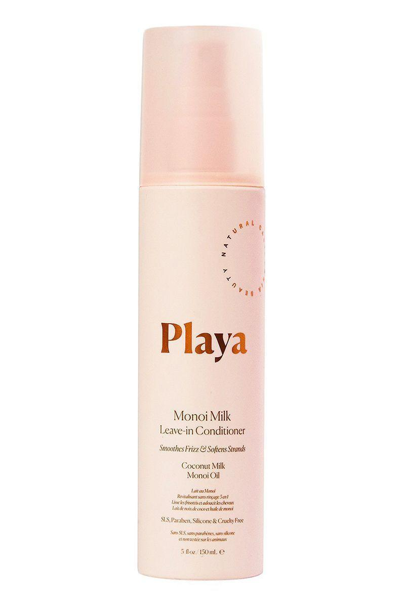 """<p><strong>Playa</strong></p><p>playabeauty.com</p><p><strong>$24.00</strong></p><p><a href=""""https://go.redirectingat.com?id=74968X1596630&url=https%3A%2F%2Fplayabeauty.com%2Fproducts%2Fmonoi-milk-leave-in-conditioner&sref=https%3A%2F%2Fwww.harpersbazaar.com%2Fbeauty%2Fhair%2Fg5620%2Fbest-leave-in-conditioners%2F"""" rel=""""nofollow noopener"""" target=""""_blank"""" data-ylk=""""slk:SHOP"""" class=""""link rapid-noclick-resp"""">SHOP</a></p><p>We love a multi-faceted product and this one does not disappoint. It's a primer, leave-in-conditioner, and heat protectant styler all in one. Made with Tahitian monoi oil and coconut milk, it will give your hair a nourishing condition treatment while protecting it from further damage. </p>"""